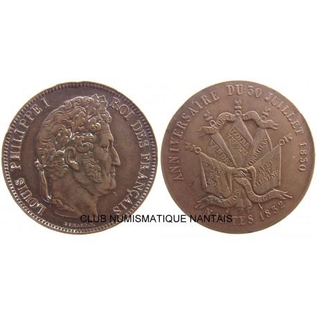 ESSAI 5 FRANCS LOUIS PHILIPPE 1832 NANTES - BRONZE