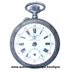 MONTRE A GOUSSET AVEC CHRONOMETRE ARGENT DE F.BACHSCHMIND. PATENT 27553