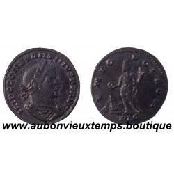 FOLLIS  Bronze CONSTANTINUS 1er Tête laurée 307 – 337 ap J.C.   LYON