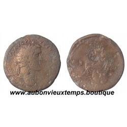SESTERCE Bronze ANTONIN le PIEUX Tête laurée à droite 138 – 161 ap J.C.