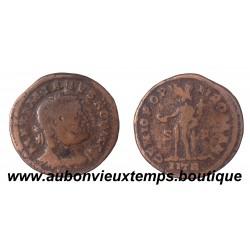 FOLLIS Bronze MAXIMIEN Tête laurée à droite 286 – 308 ap J.C. TREVES