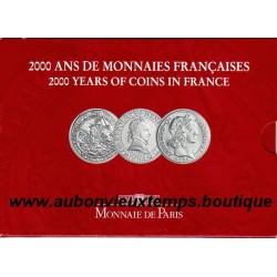 COFFRET 5 FRANCS HENRI III - JEAN LE BON - LOUIS XIII  2000