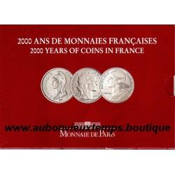 COFFRET 5 FRANCS MARIANNES : REVOLUTIONNNAIRE - IIIème REP. - NOUVEAU FRANC 2000