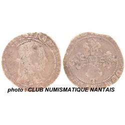 1/2 FRANC HENRI III 1579 F - ANGERS