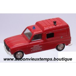 SOLIDO  1/43  REF : 1213  RENAULT 4 FOURGONNETTE  POMPIERS