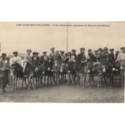 CARAVANE D'ANES - SAISON DES BAINS - LES SABLES D'OLONNE 85