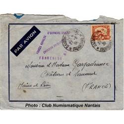 ENVELOPPE - FORCES NAVALES - CROISEUR PRIMAUGUET 1938