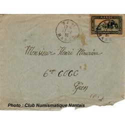 ENVELOPPE - SAFI  MAROC - 6éme COCC - 1938