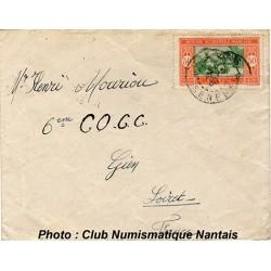 ENVELOPPE - AOF  SENEGAL - 6éme COCC - 1938