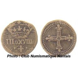 POIDS MONETAIRE - HENRI III A LOUIS XIV - III DENIERS ET XVIII GRAINS