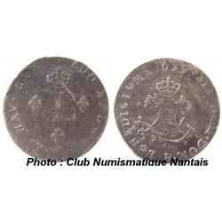 DOUBLE SOL 2 L COURONNES - 1739 R - ORLEANS - LOUIS XV