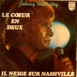 45T LE COEUR  DEUX - PHILIPS 6042 290 - AVRIL 1977 - JOHNNY HALLYDAY