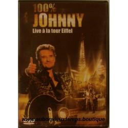 VHS  100 %  JOHNNY HALLYDAY  LIVE A LA TOUR EIFFEL  2000 UNIVERSAL   32 TITRES