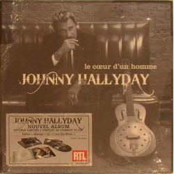 COFFRET 25 CM '' LE COEUR D'UN HOMME '' - WARNER - NOVEMBRE 2007 - JOHNNY HALLYDAY