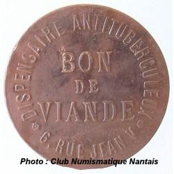 BON DE VIANDE - DISPENSAIRE ANTITUBERCULEUX - 6 RUE JEAN V