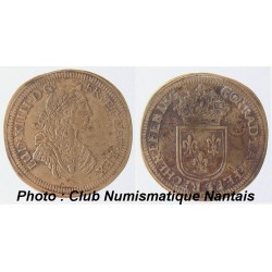 JETON de LOUIS XIV Nuremberg CONRAD LAUFFERS RECHEN PFENING