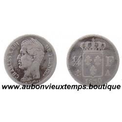 1 FRANC Argent CHARLES X  1828 T