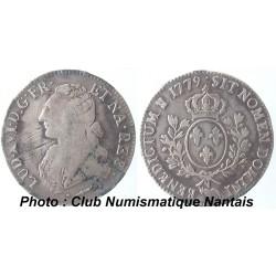 ECU LOUIS XVI 1779 PAU - AUX BRANCHES D'OLIVIER