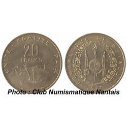 20 FRANCS 1977 - DJIBOUTI