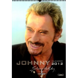 CALENDRIER JOHNNY HALLYDAY RELIE   2012