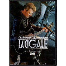 DVD  JOHNNY HALLYDAY  LA CIGALE DECEMBRE 2006 - WARNER MUSIC   18 TITRES