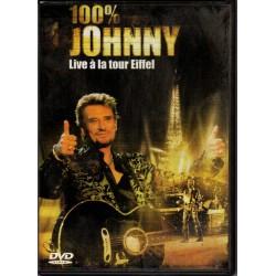 DVD  100% JOHNNY - LIVE A LA TOUR EIFFEL - UNIVERSAL 2000 - 24 TITRES
