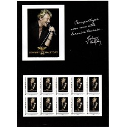 BLOC COLLECTOR TIMBRES JOHNNY HALLYDAY