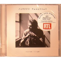 CD  JOHNNY HALLYDAY  - RESTER VIVANT  2014   12 TITRES