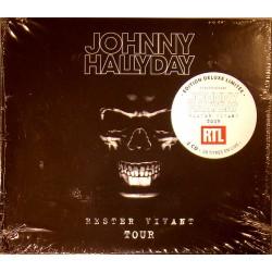 CD  JOHNNY HALLYDAY  - RESTER VIVANT TOUR  2016  2 CD  28 TITRES
