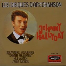 CD  JOHNNY HALLYDAY  - LES DISQUES D'OR DE LA CHANSON     4 TITRES