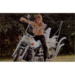 CARTE POSTALE JOHNNY HALLYDAY