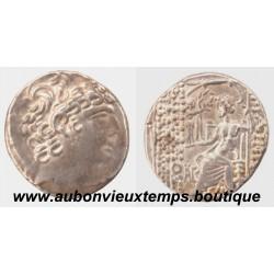 TETRADRACHME PHILIPPE PHILADELPHE ROYAUME SÉLEUCIDE 93 – 83 av J.C. Antioche  SYRIE
