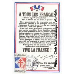 A TOUS LES FRANCAIS - 18 JUIN 1940