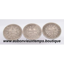 LOT DE 3 MONNAIES ARGENT 2 FRANCS  CERES