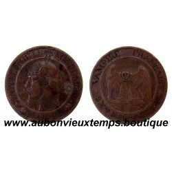 10 CENTIMES NAPOLEON III SEDAN  1870 SATIRIQUE