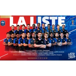 SET de TABLE  N°6 EQUIPE DE FRANCE FOOTBALL 2018