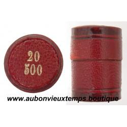 PORTE LOUIS DE 20 FRANCS OR  ( 25 pièces de 20 francs -  500 francs )
