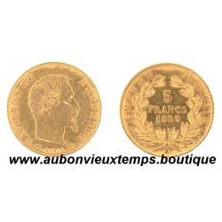 5 FRANCS OR NAPOLEON III  1860 A  EMPEREUR