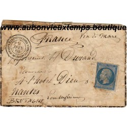 LETTRE CORPS EXPEDITIONNAIRE D'ITALIE 1ère DIVISION 1860 - NAPOLEON III - 20 Cmes