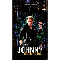 COFFRET 3 CD  JOHNNY ALLUME LE FEU - STADE DE FRANCE 98   MERCURY  36 TITRES  1998