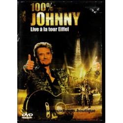 DVD  100 %  JOHNNY HALLYDAY  LIVE A LA TOUR EIFFEL  2000 UNIVERSAL   24 TITRES