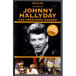 VHS JOHNNY HALLYDAY LES PREMIERES ANNEES - REMARK   18 TITRES
