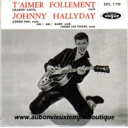 CD  JOHNNY HALLYDAY  T'AIMER FOLLEMENT  1960  4 TITRES