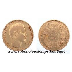 20 FRANCS OR NAPOLEON III  1855 A  EMPEREUR