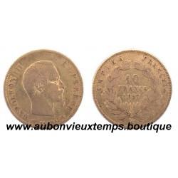10 FRANCS OR NAPOLEON III  1857 A  EMPEREUR