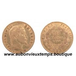 10 FRANCS OR NAPOLEON III  1866 BB  EMPEREUR
