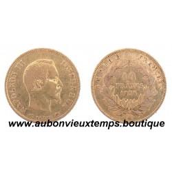 10 FRANCS OR NAPOLEON III  1856 A  EMPEREUR