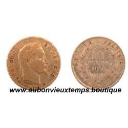 10 FRANCS OR NAPOLEON III  1862 A  EMPEREUR