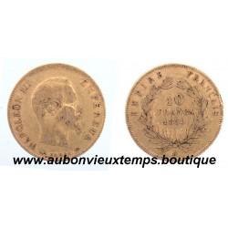 10 FRANCS OR NAPOLEON III  1859 A  EMPEREUR