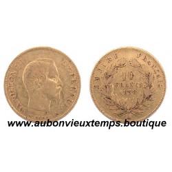 10 FRANCS OR NAPOLEON III  1858 A  EMPEREUR